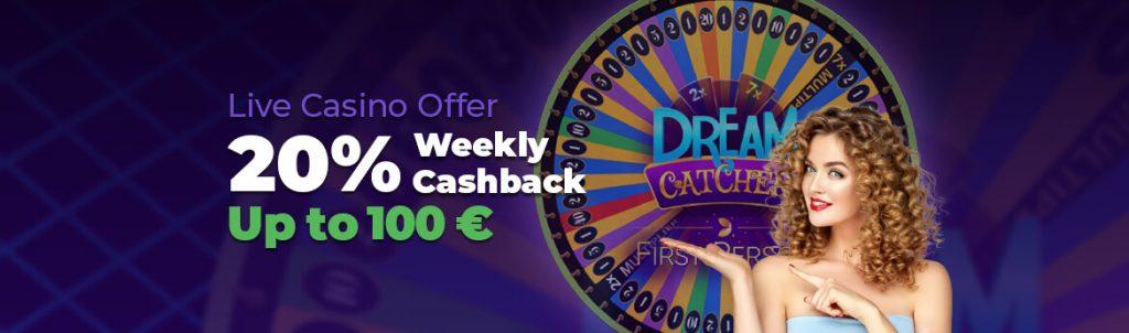 lilibet live casino cashback