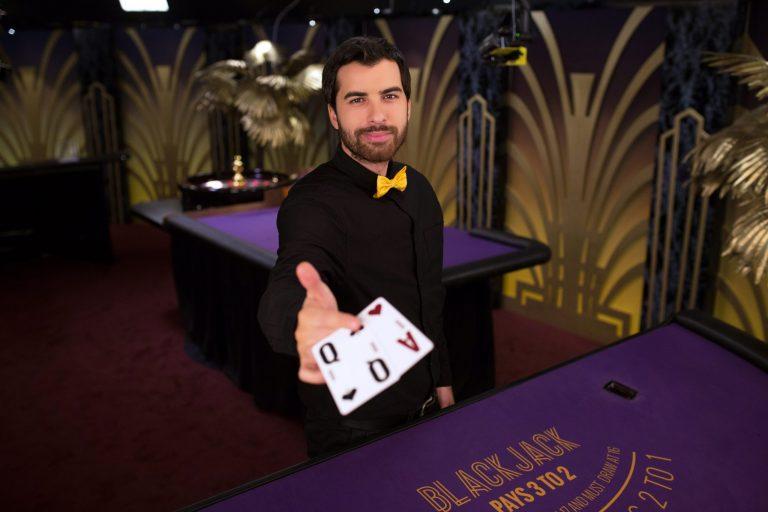 blackjack croupier online casino