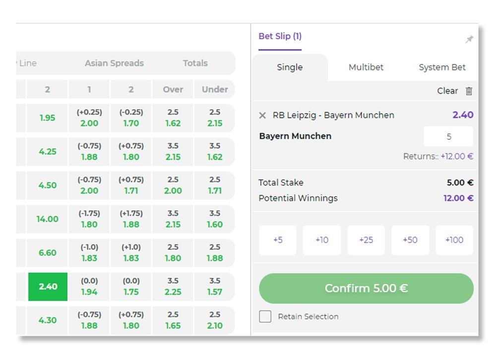 single bet at bet slip lilibet sportsbook