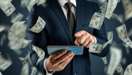online-sports-betting-man-suit-is-holding-smartphone-dollars-are-falling-from-sky-creative-background-gambling_99433-5045