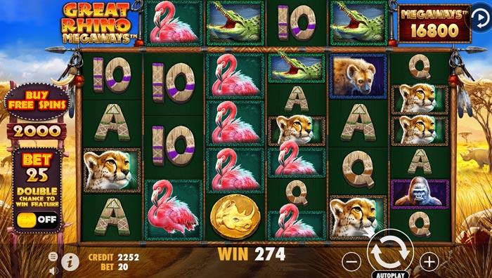 Great-Rhino-Megaways at lilibet casino