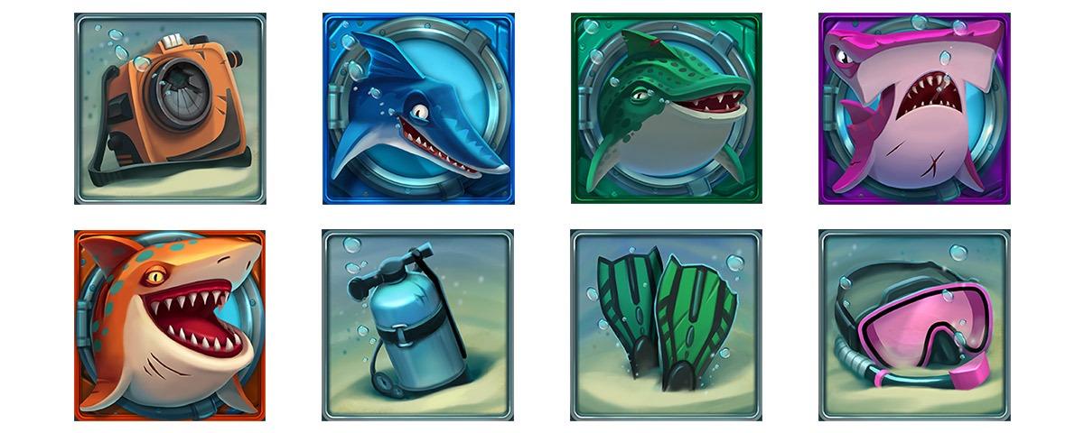 Razor-Shark slot game symbols