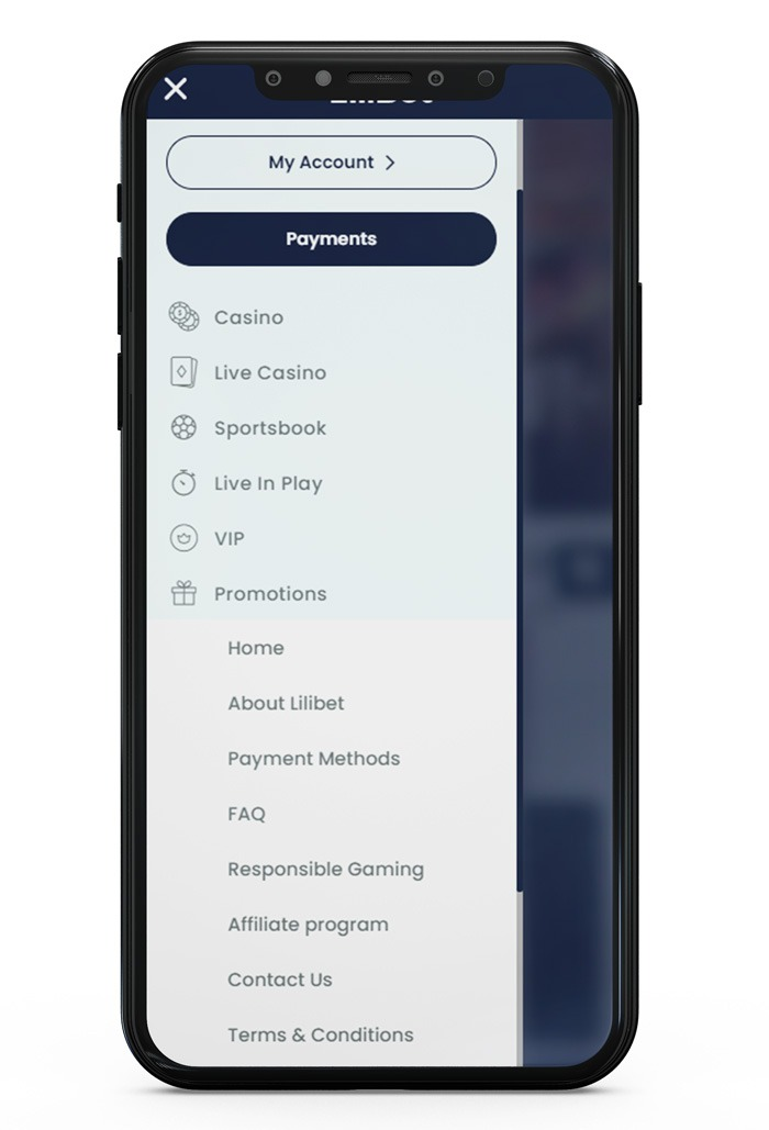 deposits with Paysafecard at Lilibet Step 1