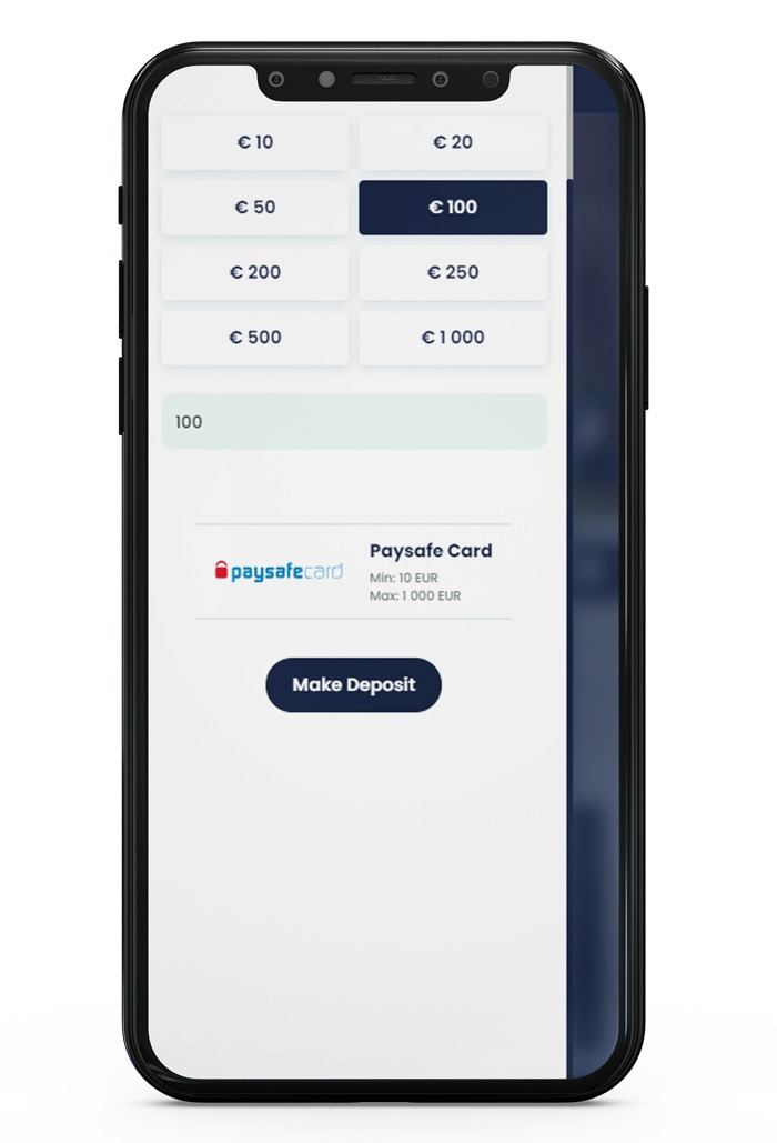 depositing with Paysafecard at Lilibet Step 4